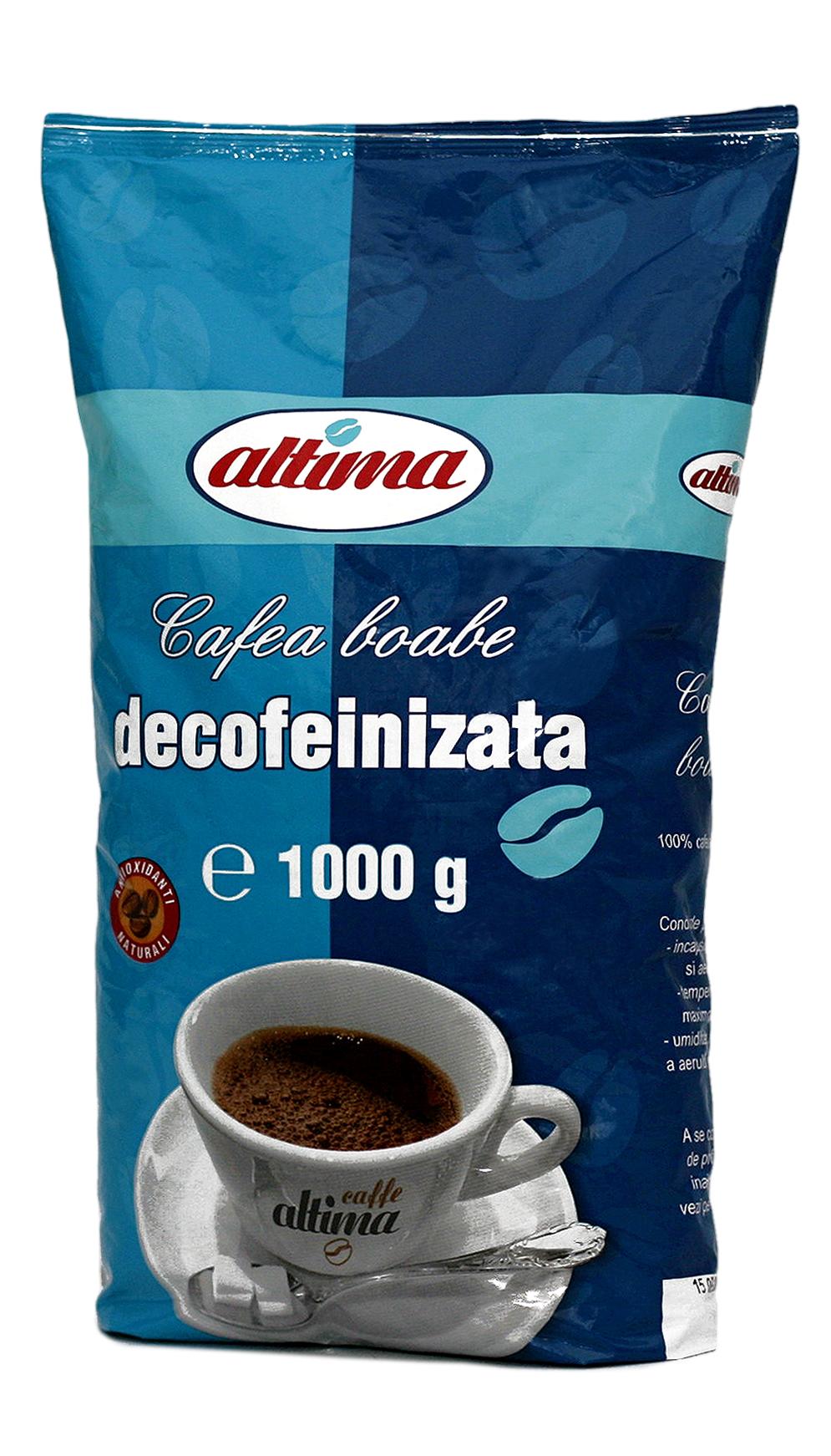 Cafea boabe decofeinizată 1 kg